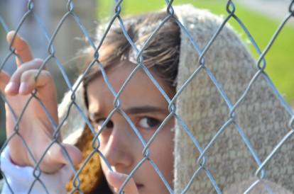 Flchtlinge am Zaun