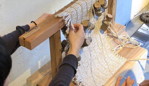 新潟県の粟島の「縄文編み」の商品が特長のアパレルブランド「principle of overprint」の展示会に行ってみました!